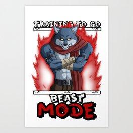 Training to go Beast mode - Bergamo Art Print