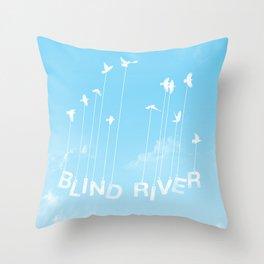Blind River Birds (white) Throw Pillow