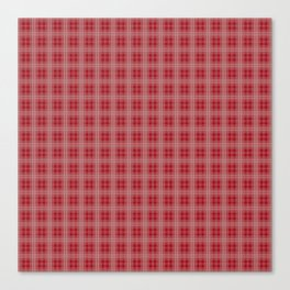 Christmas Cranberry Red Jelly Tartan Plaid Check Canvas Print
