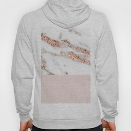 Blushed rose gold vein Hoody