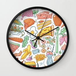 Food Stuffs Wall Clock