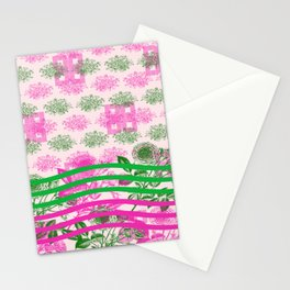 Abstract Roses Stationery Cards