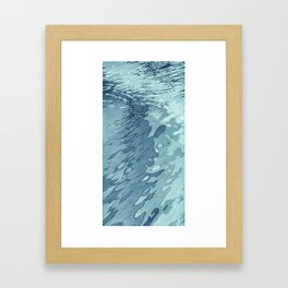 Aqua Shoreline Framed Art Print