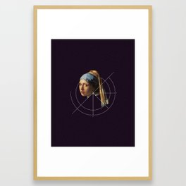 NOT Girl with a Pearl Earring Framed Art Print