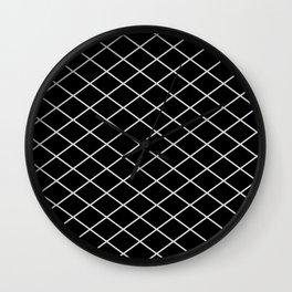 Diamond Lines - Silver Wall Clock