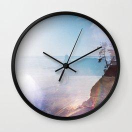 Alone on the Oregon Coast - 35mm Double Exposure Wall Clock