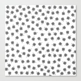 Light Gray Clover Canvas Print