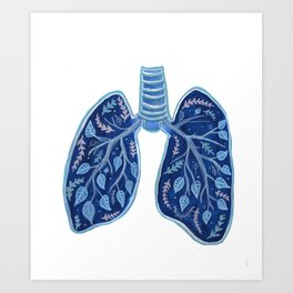 Botanical Lungs - Breathe Deep  Art Print
