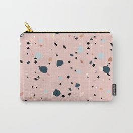 Pink Terrazzo Carry-All Pouch