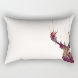 Red Deer // Stag Rectangular Pillow