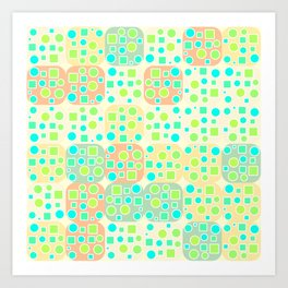 Fresh geometric pattern Art Print