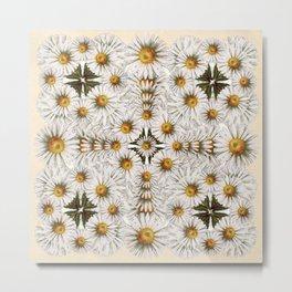 Daisy Chain Pattern Metal Print