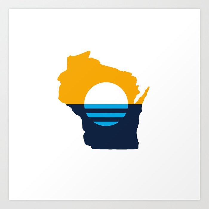 Wisconsin - People's Flag of Milwaukee Art Print