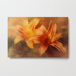 Hot Summer Daylilies Metal Print