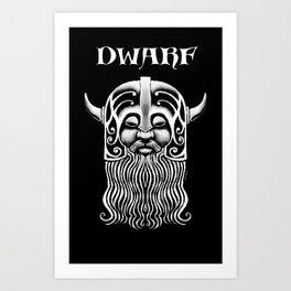 Character Creations: Dwarf Male Art Print