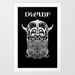Character Creations: Dwarf Male Art Print
