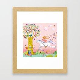 joyful springride Framed Art Print