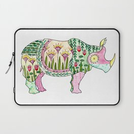 Floral Pattern Rhino Laptop Sleeve