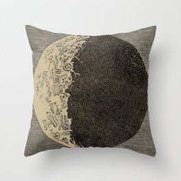 Five Day Moon Throw Pillow