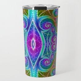 BBQSHOES: Fractal Math Art #1449 Travel Mug