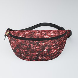 Beautiful Glamour Red Glitter sparkles Fanny Pack