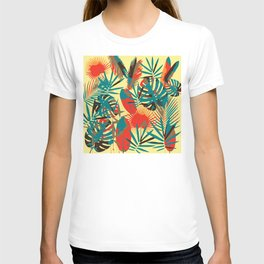 Abstract Exotique Leaves T-shirt