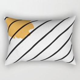 Sun Lines in Black Pattern Rectangular Pillow