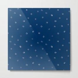 Shibori Kanoko white dots milky way Metal Print
