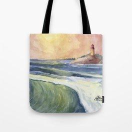 High Tide At Sunset Tote Bag