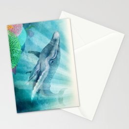 Mother Humpback Whale Stationery Cards