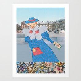 Suzette's Lady in Paris Art Print