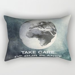 Take care of our planet #2 Rectangular Pillow