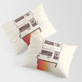 Instant Camera Rainbow Pillow Sham