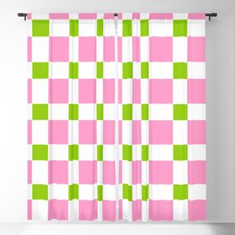 square and tartan 76- green and pink Blackout Curtain