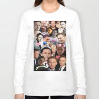 tom hiddleston Long Sleeve T-shirts featuring Tom Hiddleston/Loki Collage by chiefmarvelous