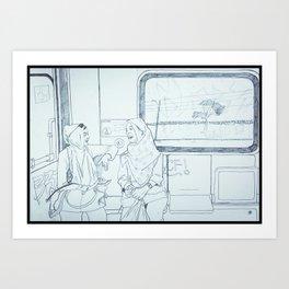 Train ride west Art Print