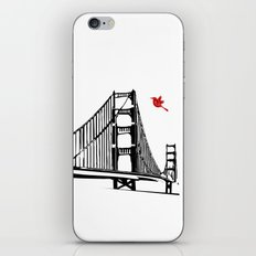 The Golden Gate Bridge Silhouette  iPhone & iPod Skin