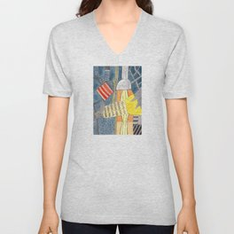 Interior with Two Lamps Unisex V-Neck
