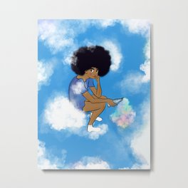 Up in the clouds Metal Print
