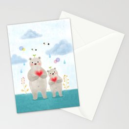 warm heart Stationery Cards