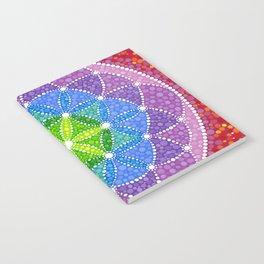 Rainbow Flower of Life Notebook