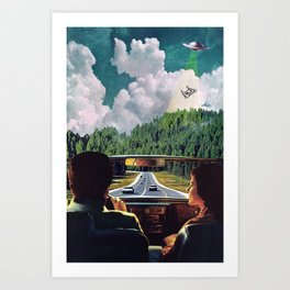 Cow Abduction Art Print