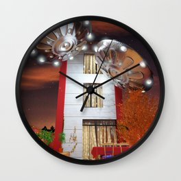 Idilic Night with Ovnis Wall Clock