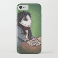 guinea pig iPhone & iPod Cases featuring Franz Schubert the Guinea Pig by When Guinea Pigs Fly