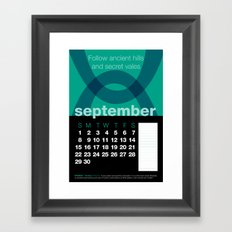 2013 Pigment to Pantone Calendar – SEPTEMBER Framed Art Print