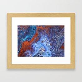 Blue Matrix Framed Art Print