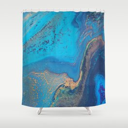 Rivers of Gold and Star Dust Shower Curtain