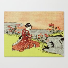 Transformation of Kikujido - Vintage Japanese Woodblock Canvas Print