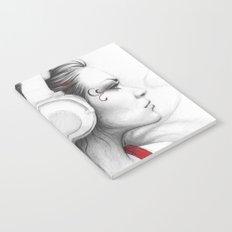 MUSIC Girl in Headphones Notebook