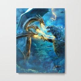 Godzilla-King Kong 02 Metal Print